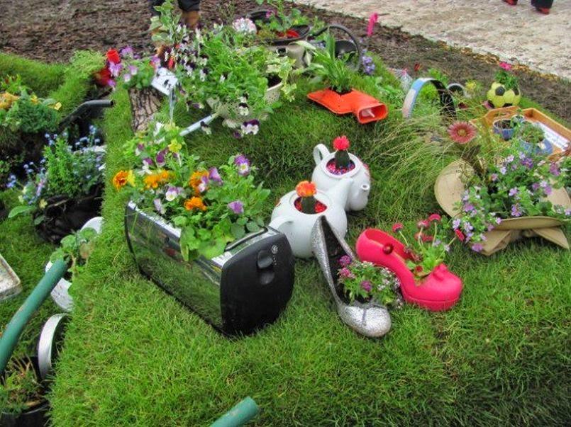 Оригинальные идеи для огорода своими руками фото 48