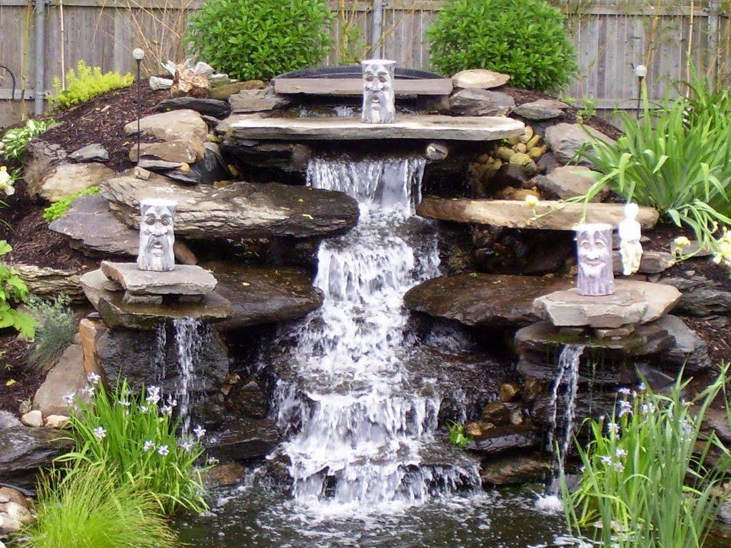 круглые глазки водопад в саду своими руками фото пластырь
