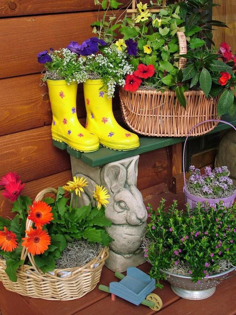 Сделать контейнер для цветов своими руками