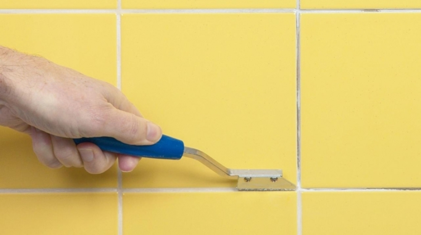 Как удалить фугу из швов плитки