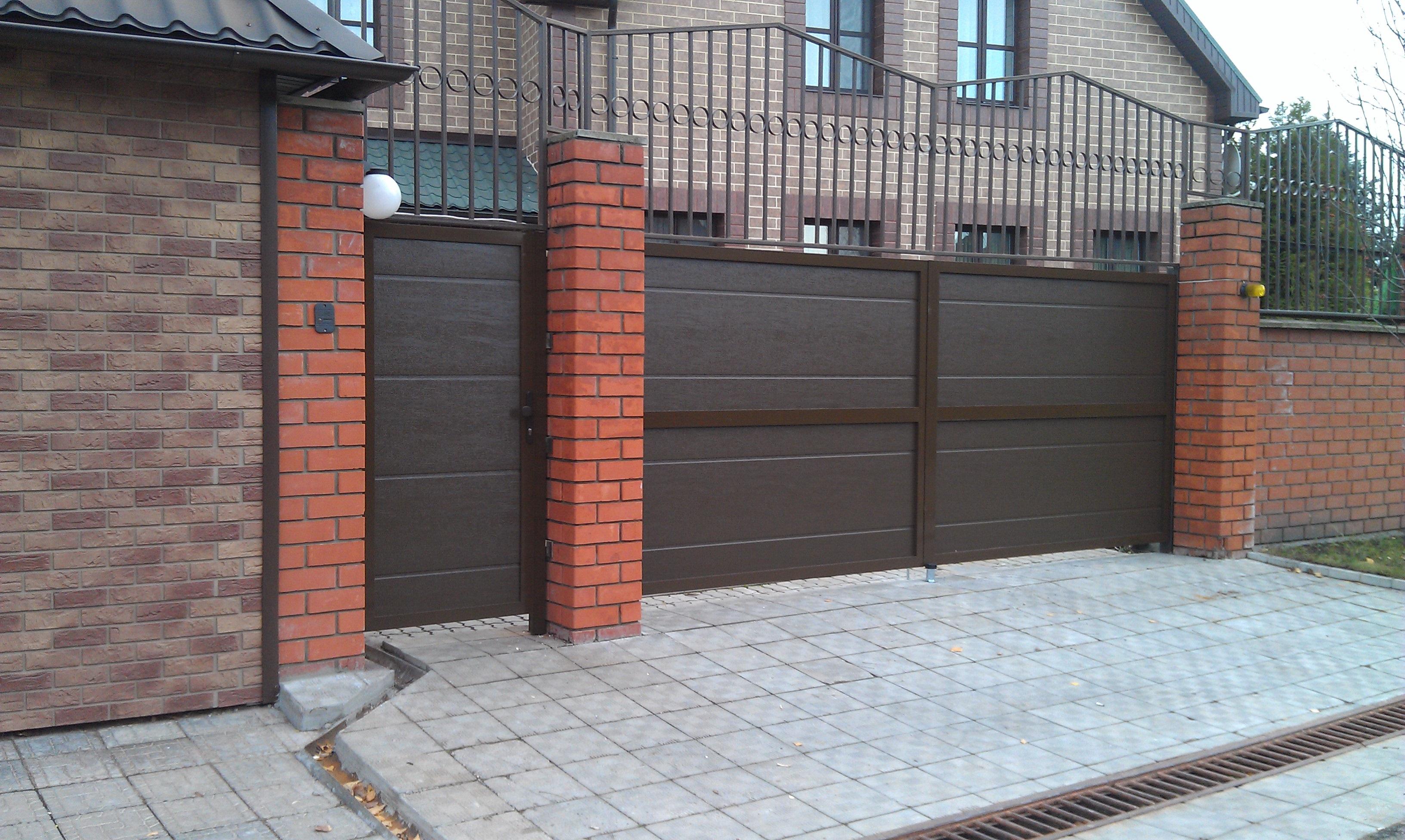 Дизайн ворот частного дома своими руками