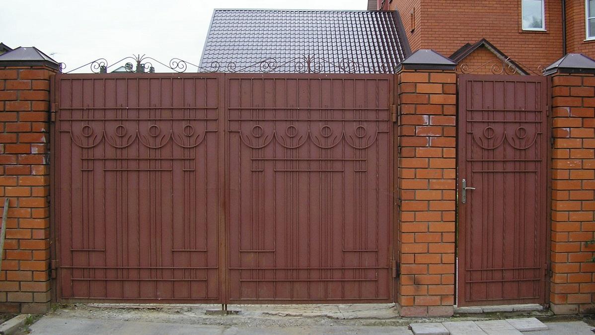Дизайн ворот частного дома своими руками фото 967