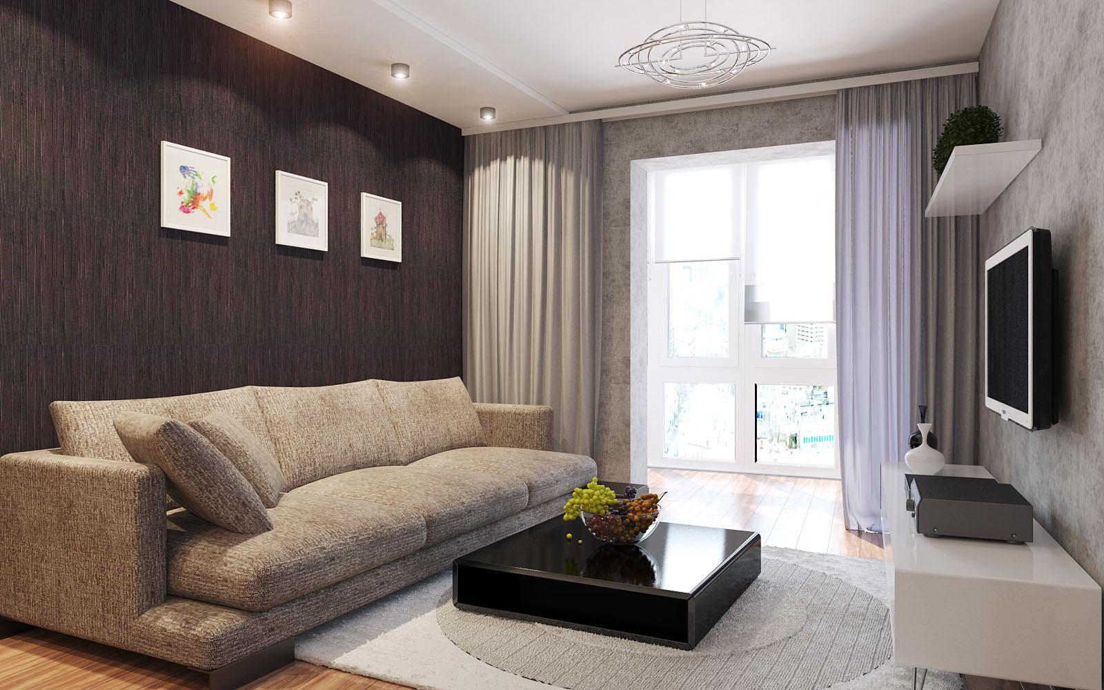 дизайн гостиной комнаты 2