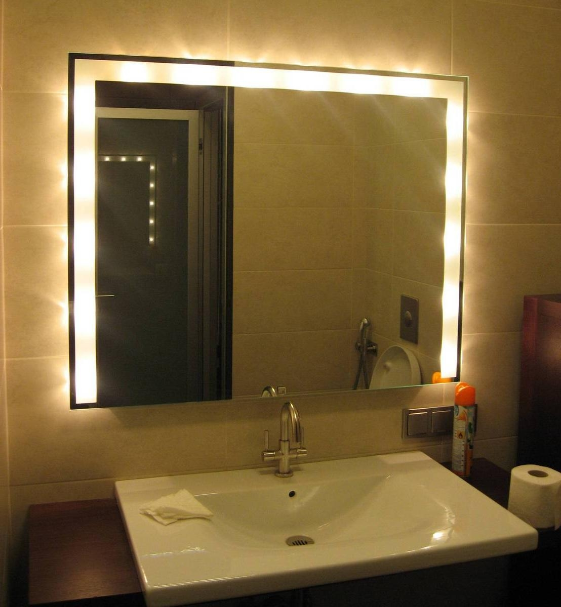 Bathroom mirror light bulbs