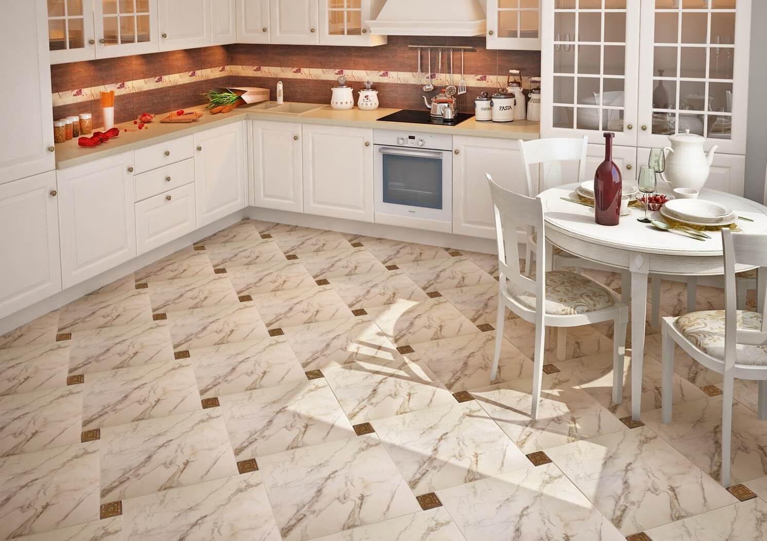 Кухонные полы дизайн