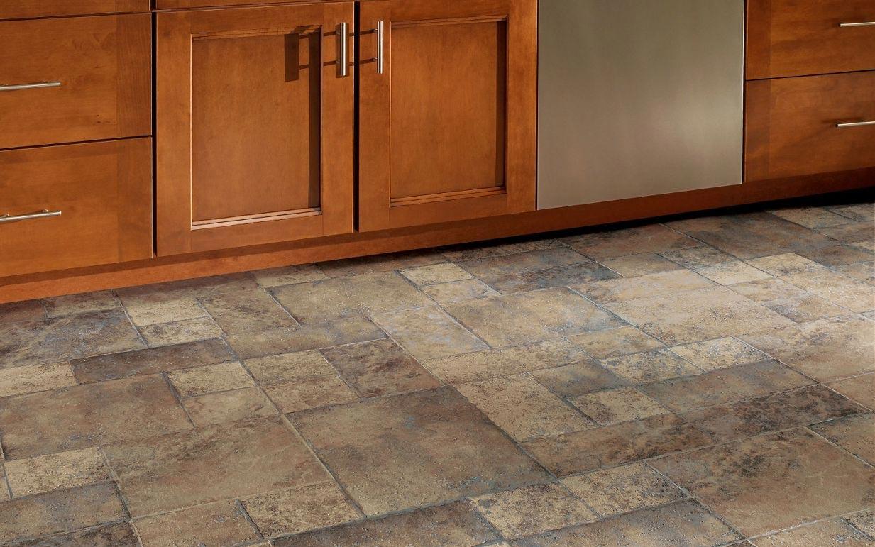 Install kitchen floor tile