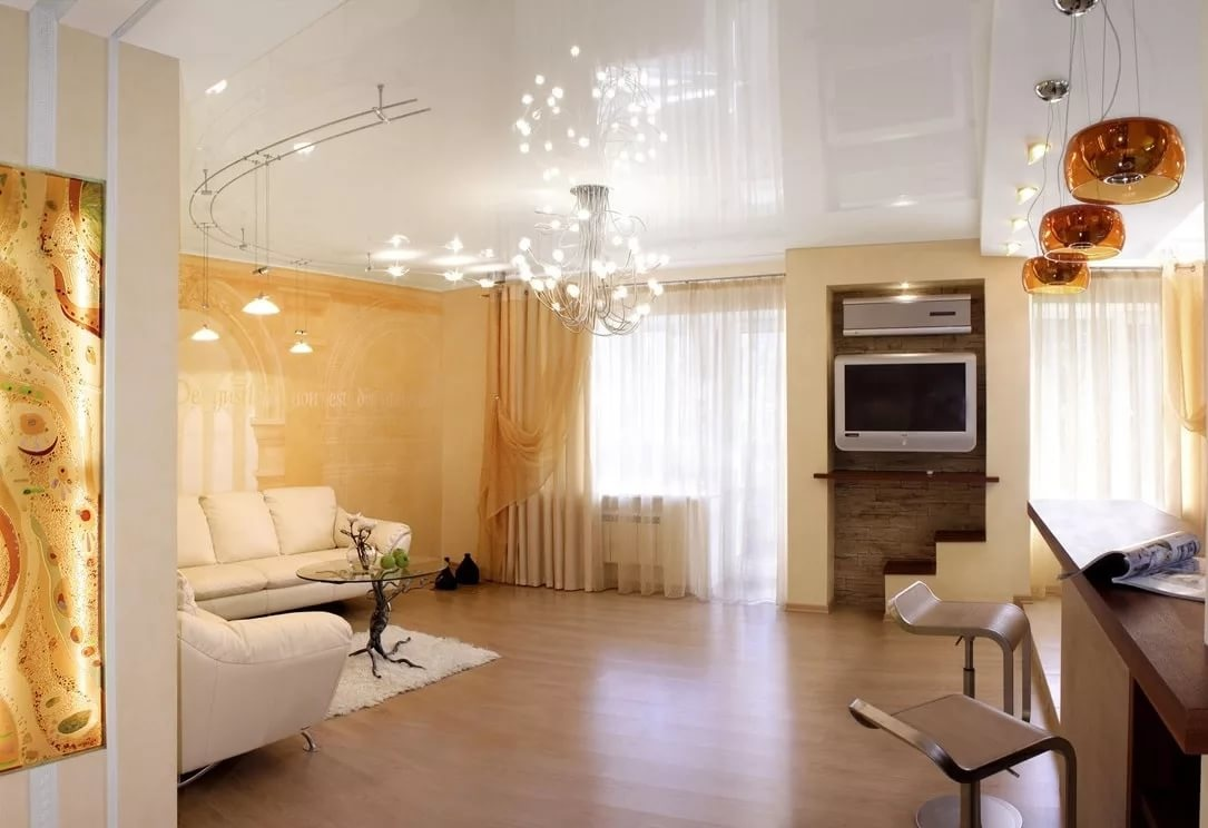 Дизайн квартир натяжные потолки