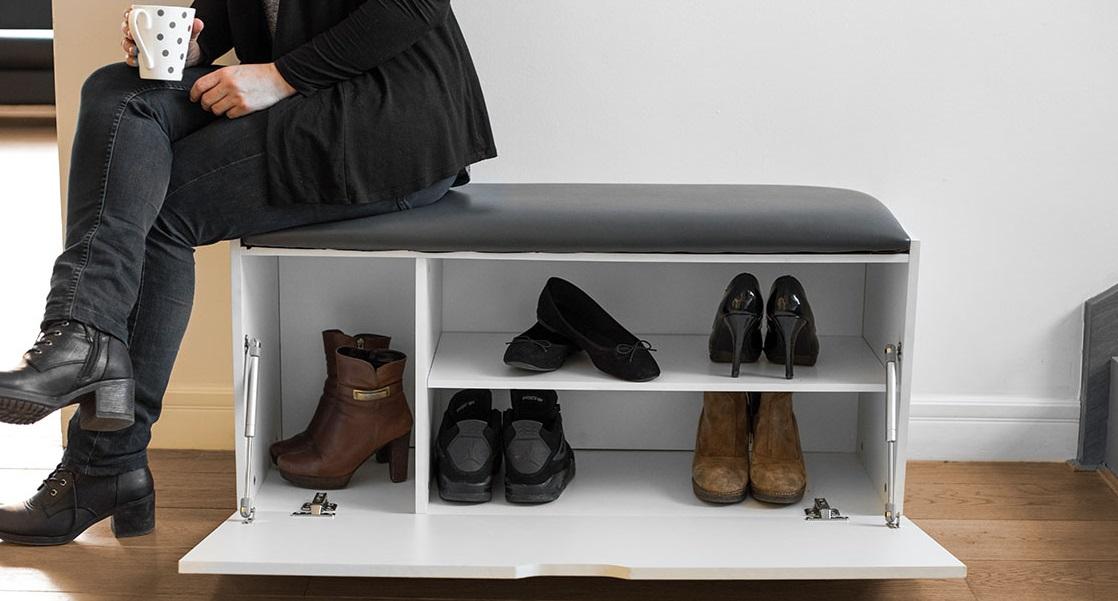 Подставка для обуви с пуфиком своими руками 80