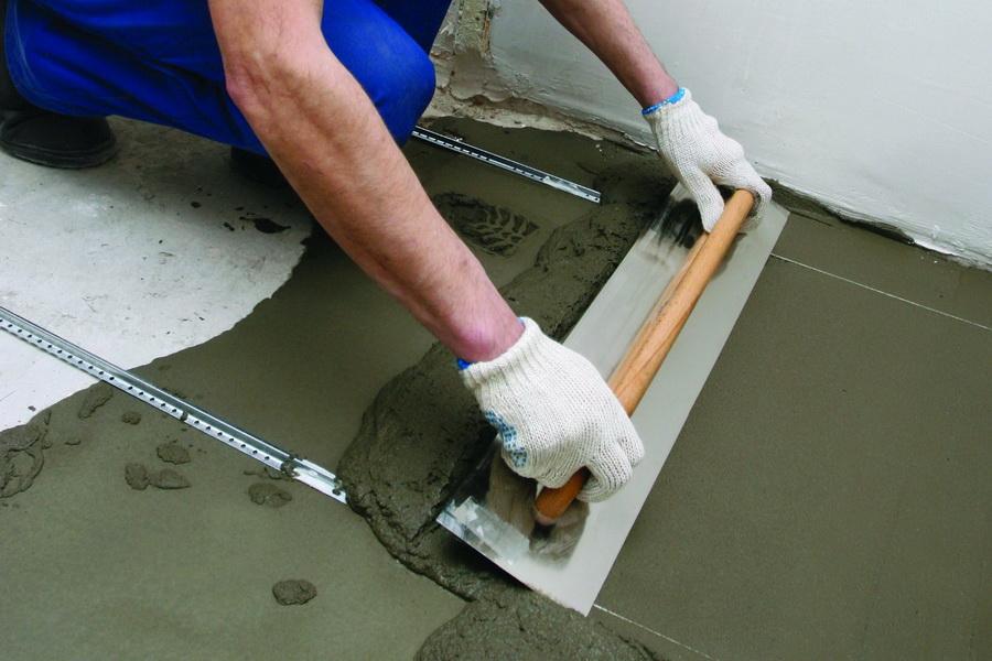 Покрытие для бетонного пола варианты устройства