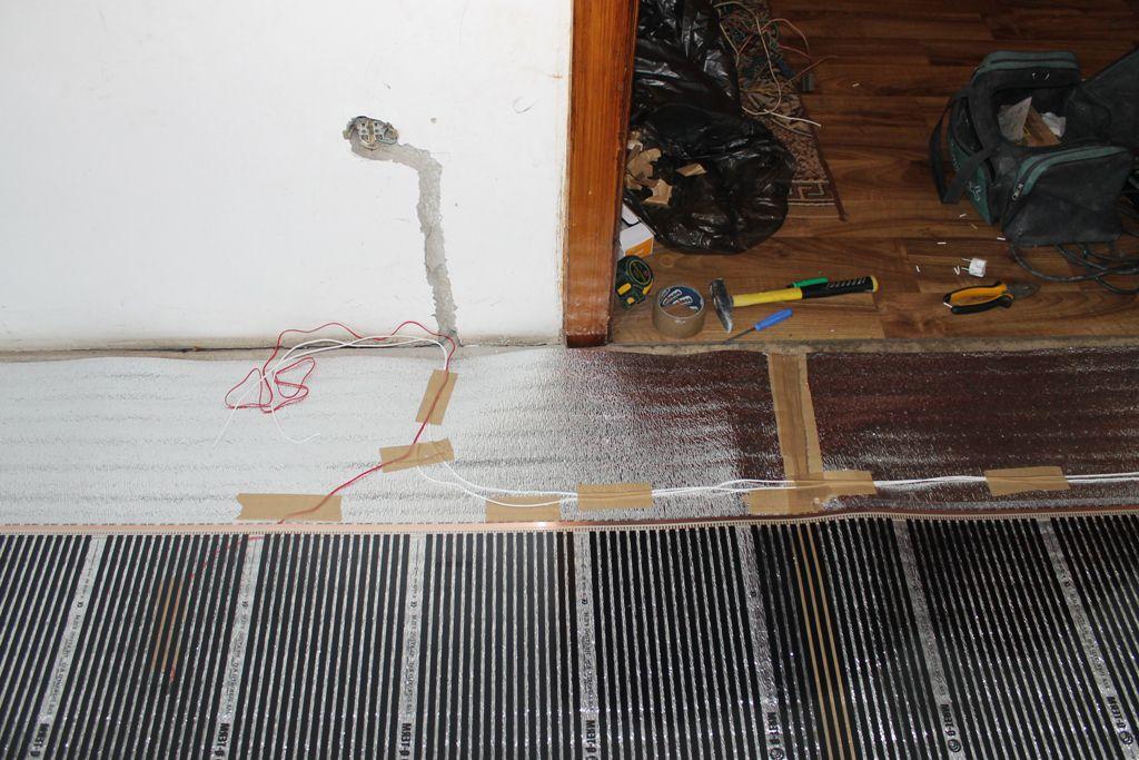 Теплый пол под ламинат своими руками кабель 55