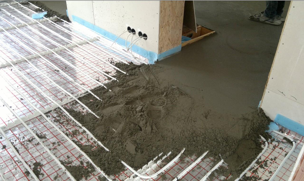 как положить теплый пол на бетон
