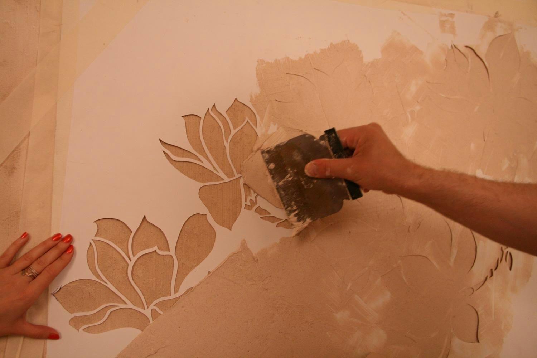 Как покрасить декоративную штукатурку в два цвета своими руками