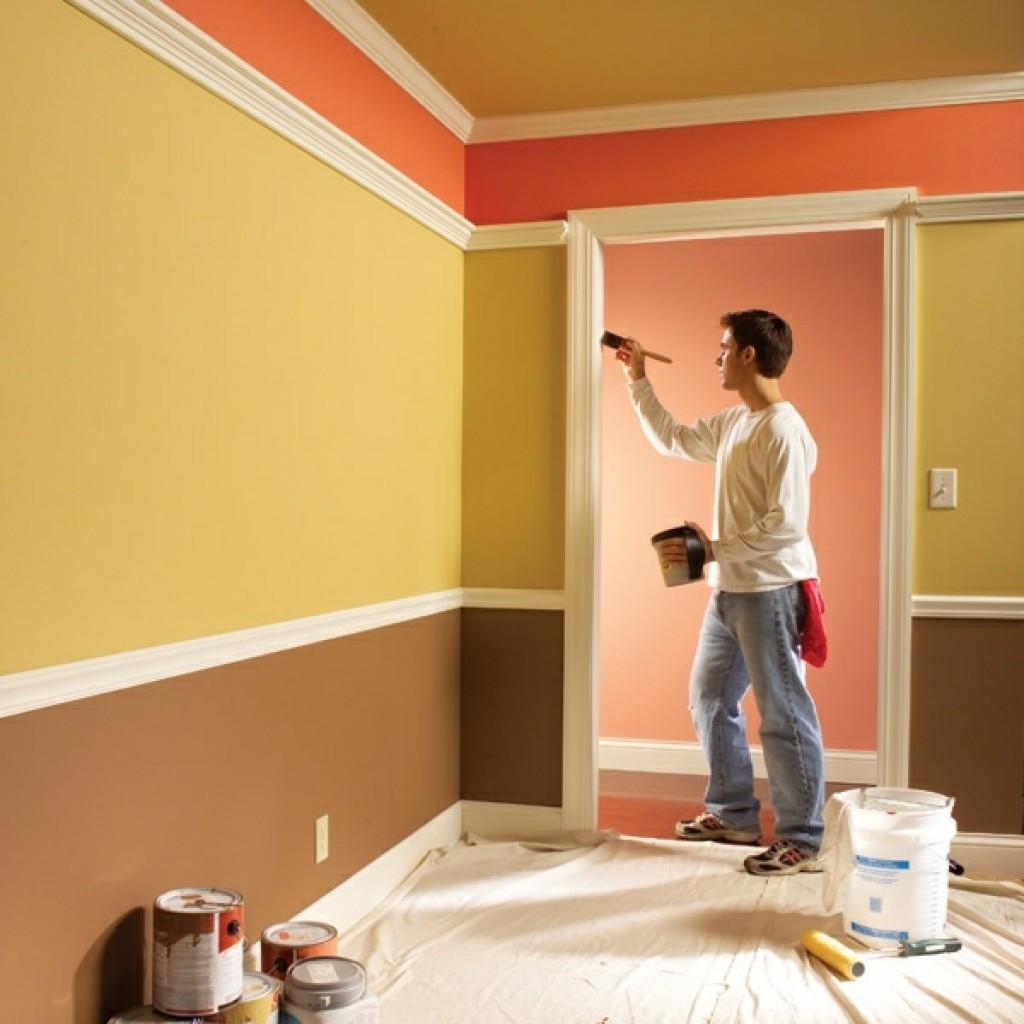Расчет краски для стен и потолков как правильно наклеить полиуретановый плинтус