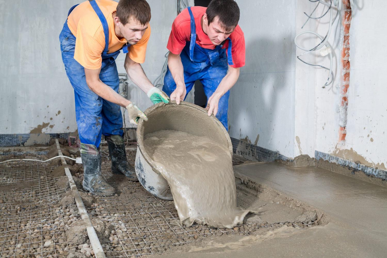 Стяжка из поризованных цементных растворов аврора бетон
