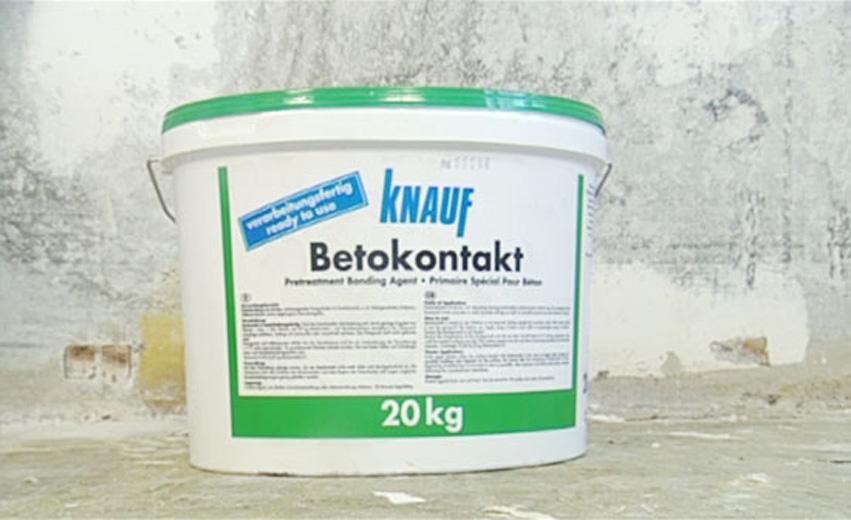 Бетоноконтакт кнауф сколько сохнет валики для покраски потолка цена
