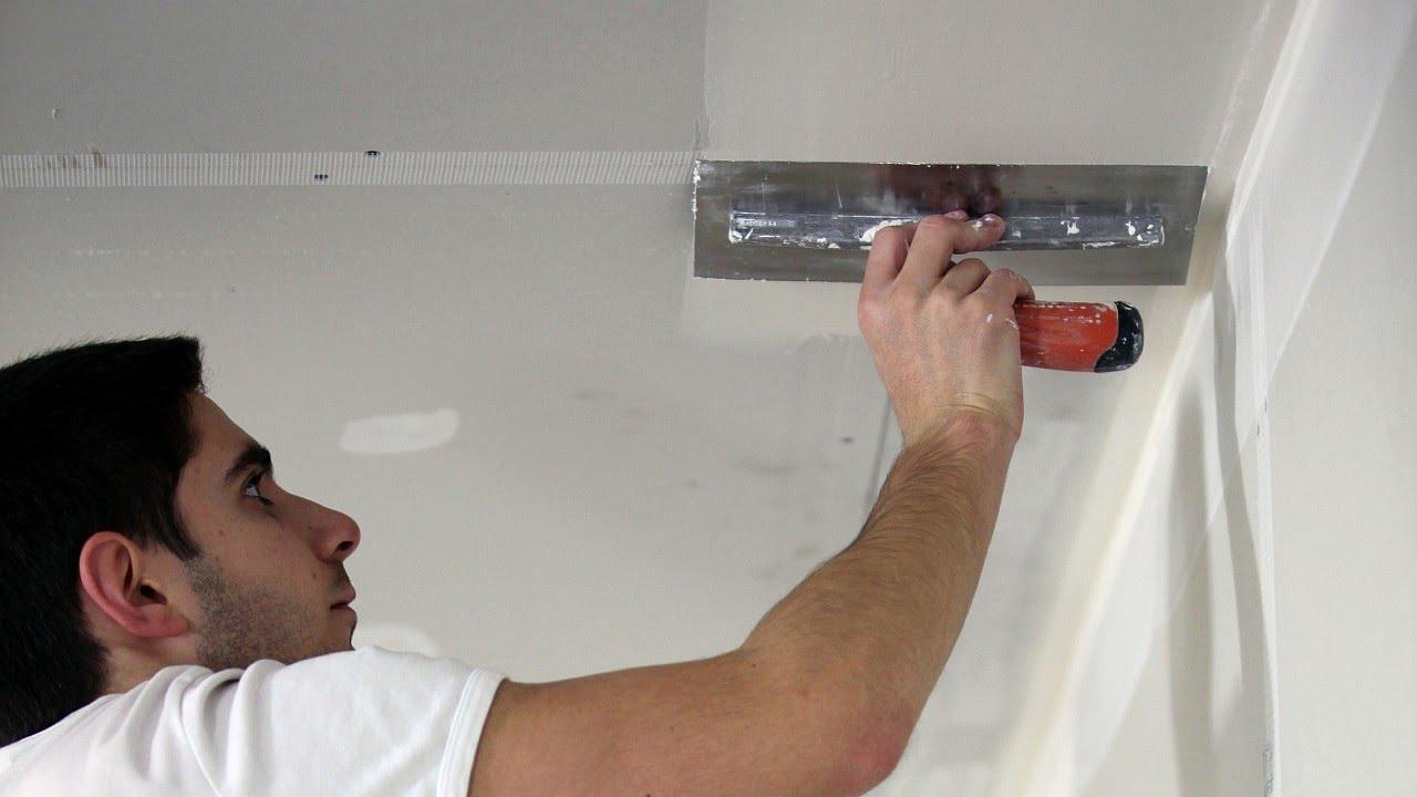 Шпаклевка потолка своими руками - пошаговая инструкция и