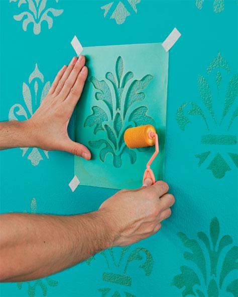 Как оформить стены с помощью трафаретов! (мастер-класс, идеи) - Сам себе мастер