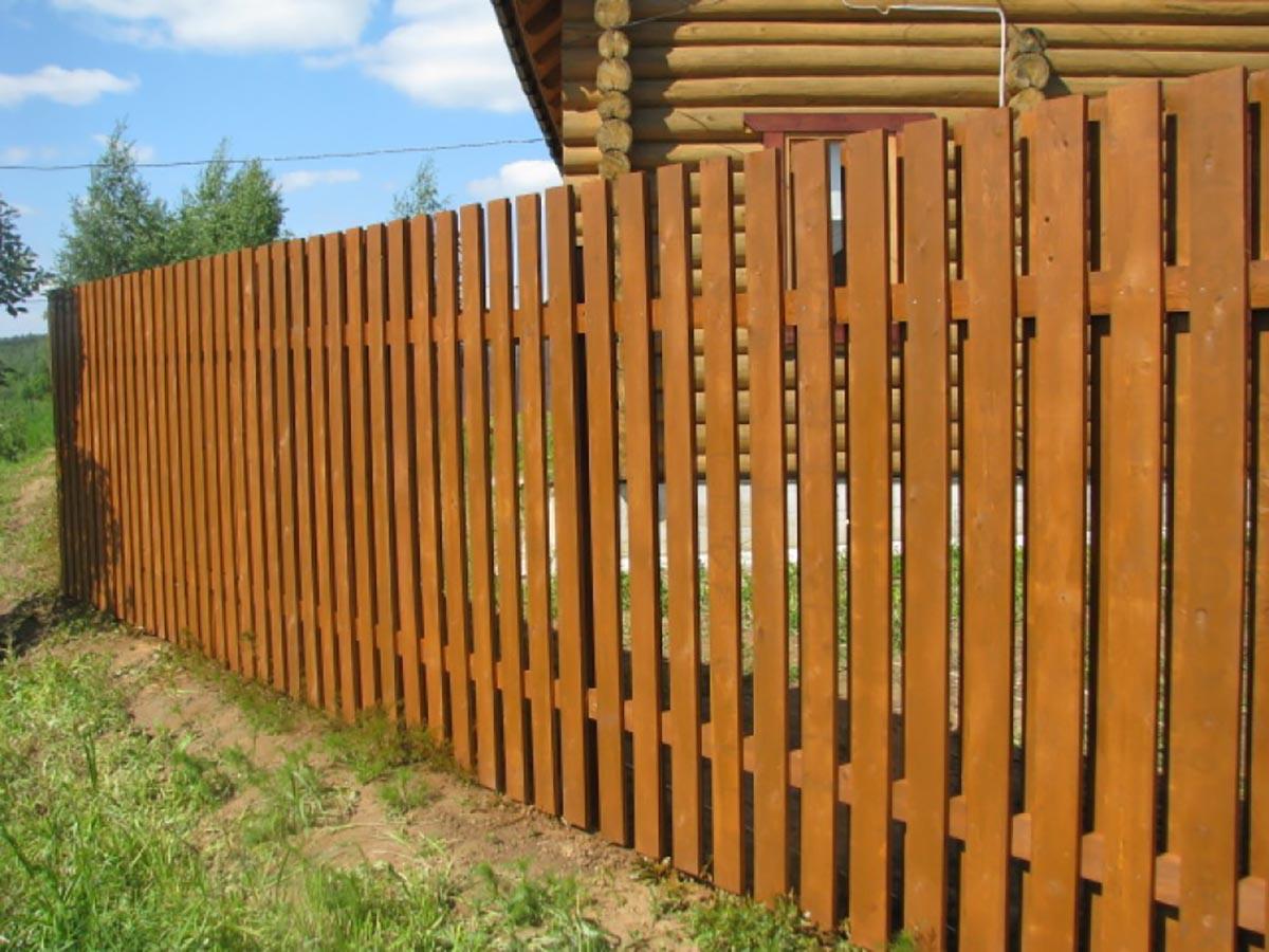Забор из необрезной доски своими руками фото