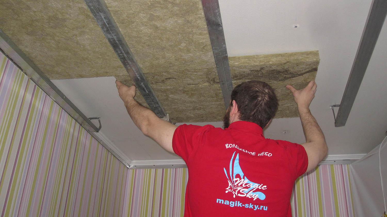 Шумоизоляция в квартире на потолке своими руками