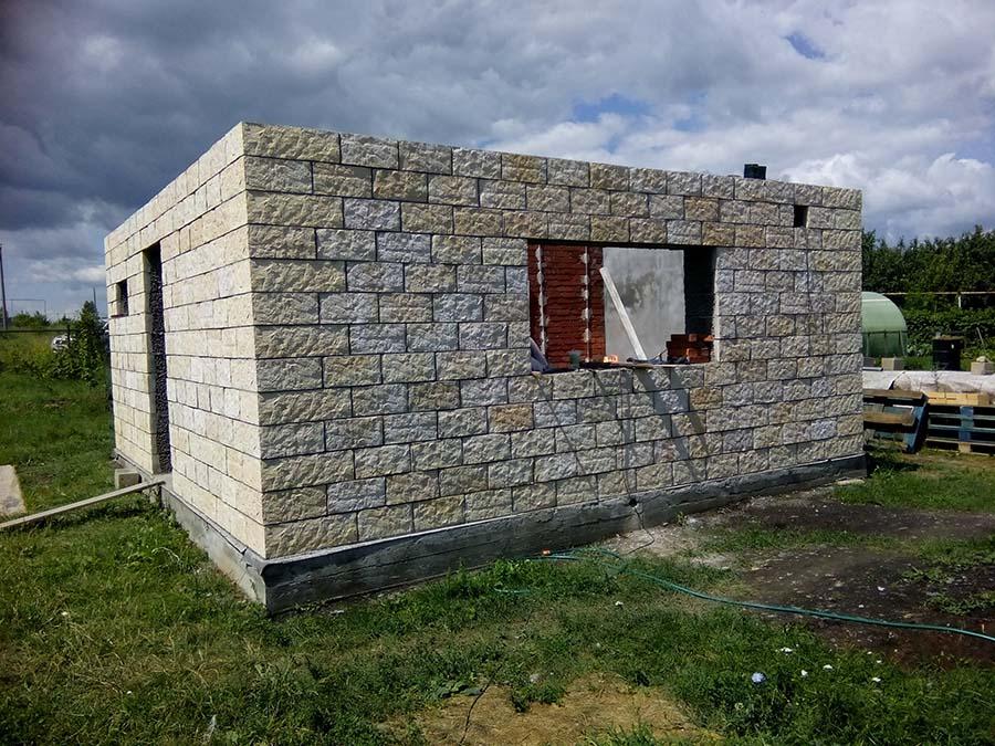 Баня из керамзитобетонных блоков своими рукам 786