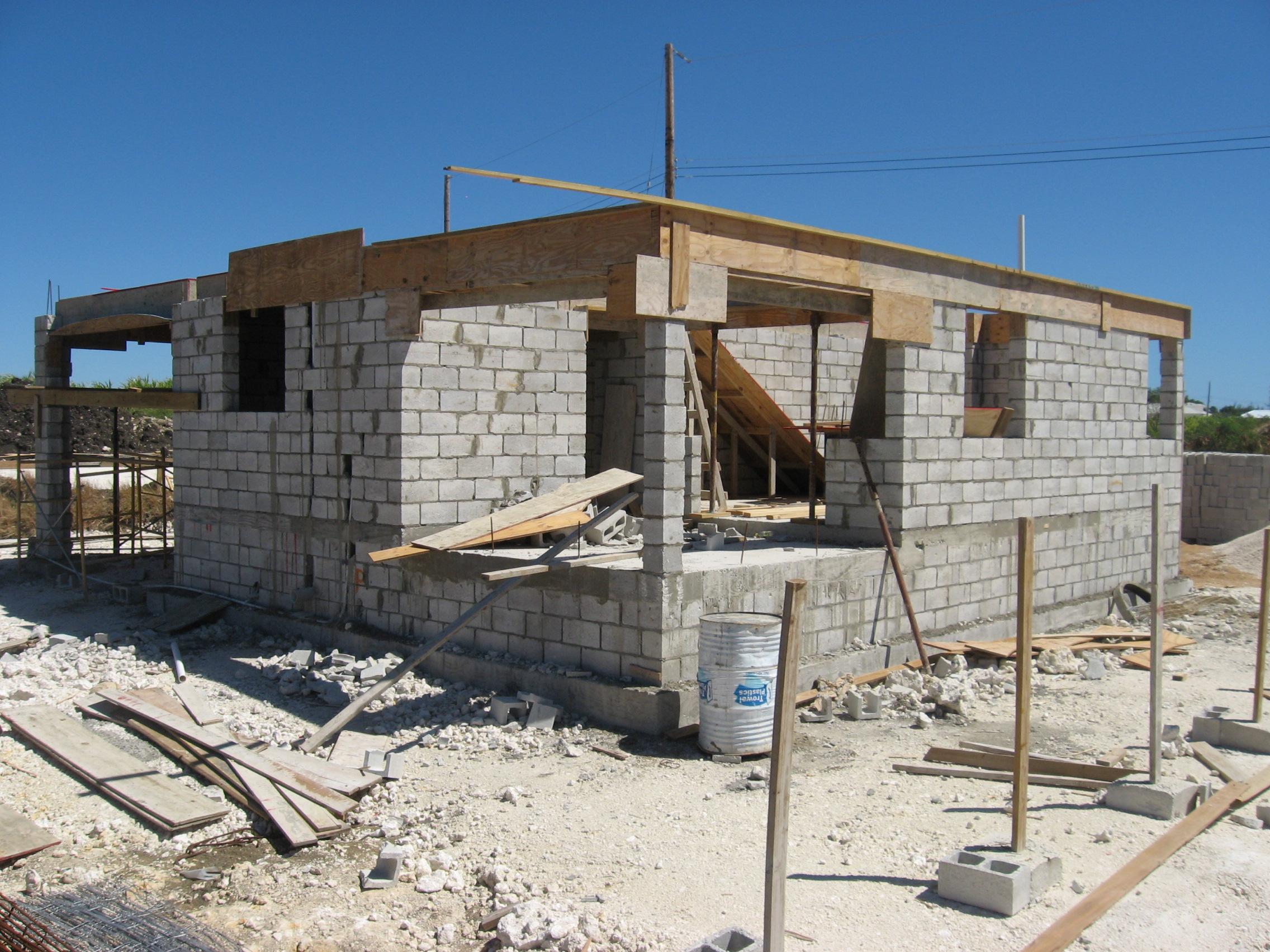 Строительство дома из шлакоблоков своими руками фото