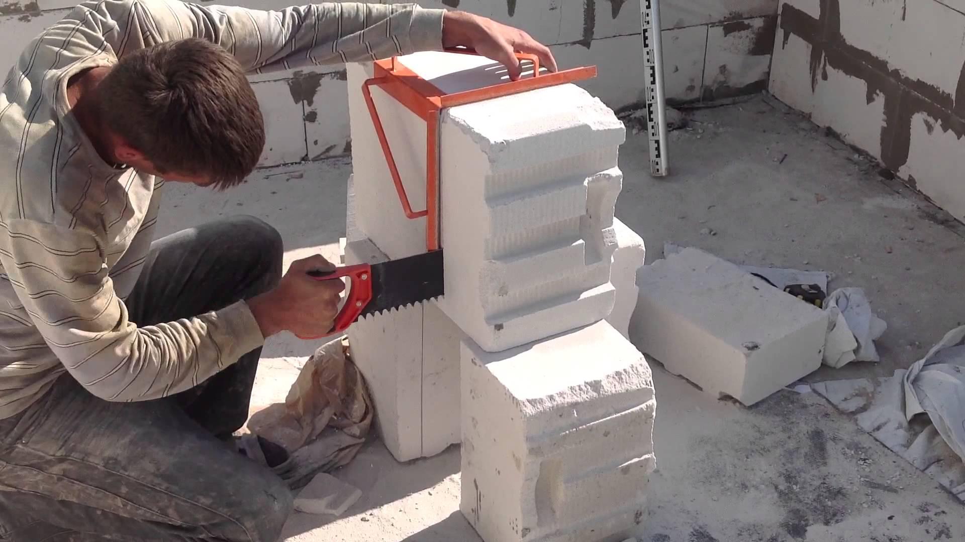 Баня из пеноблоков своими руками поэтапное строительство фото