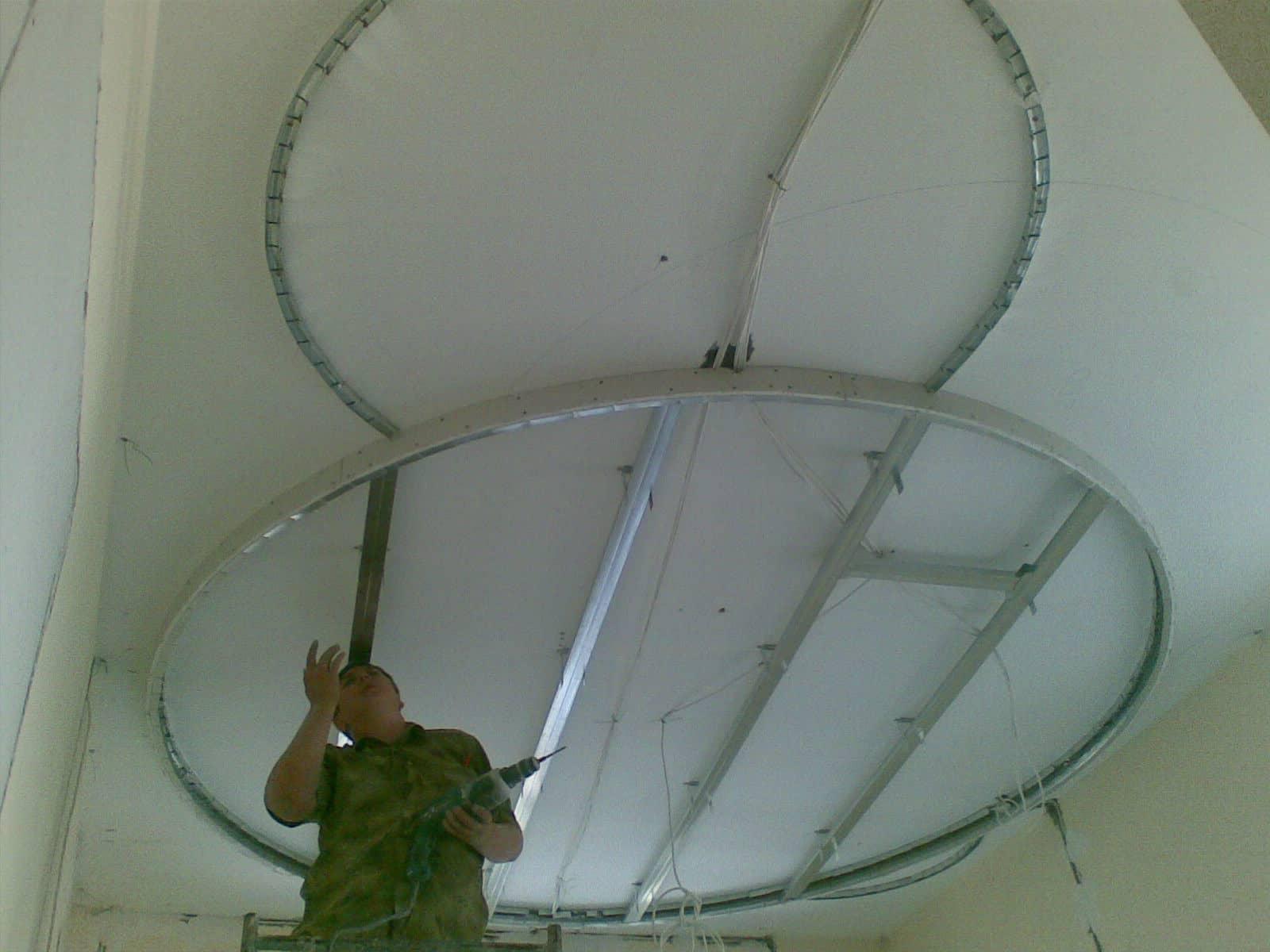 Подвесной потолок из гипсокартона своими руками 84