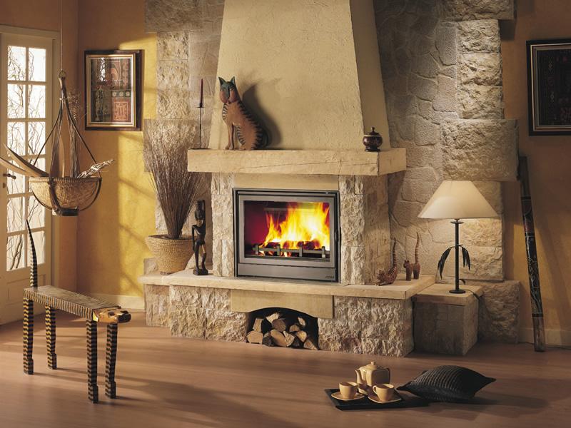 Как установить дровяной камин в доме купить настенный электрокамин