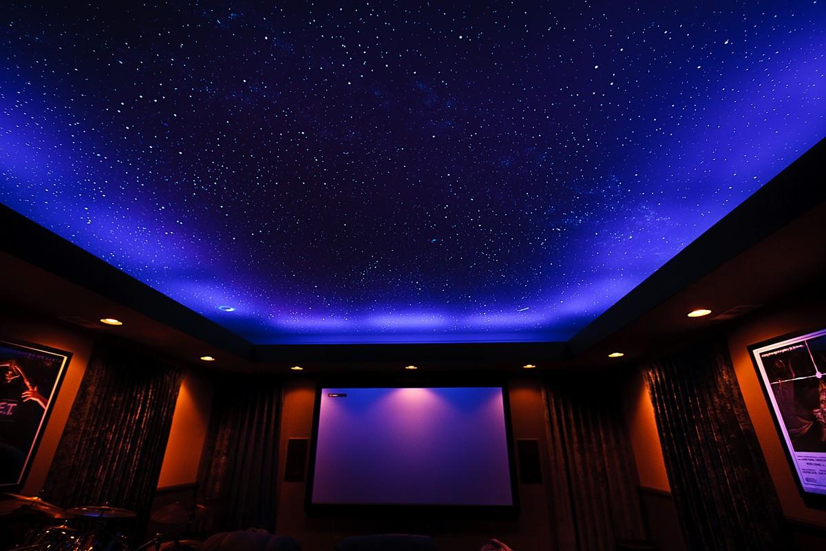 Потолок звёздное небо своими руками фото