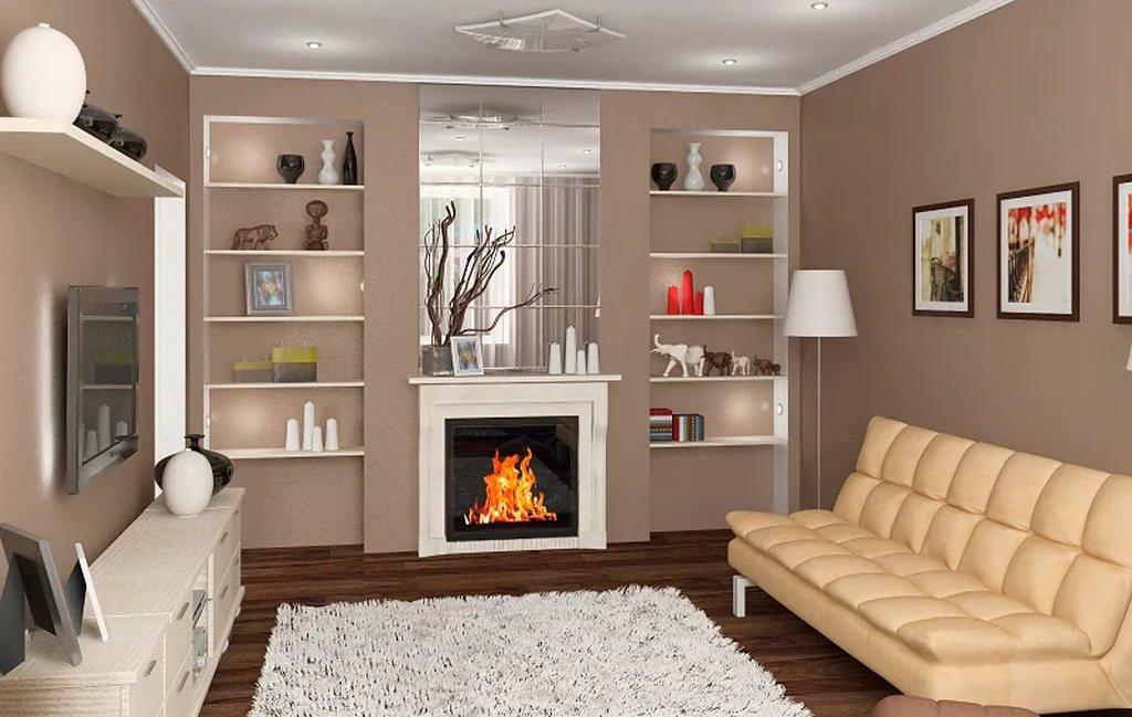 Фото комнаты с электрокамином одноразовые барбекю
