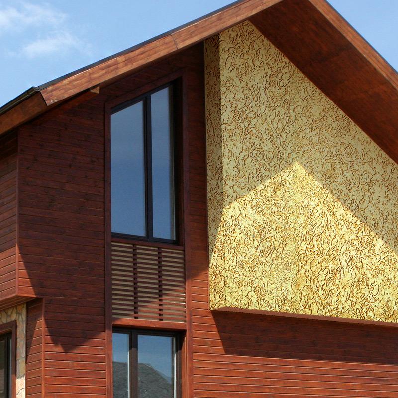 Фасадная декоративная штукатурка 51 фото какие виды материала используются для наружных работ и отделки частного дома характеристика смеси Короед для фасада