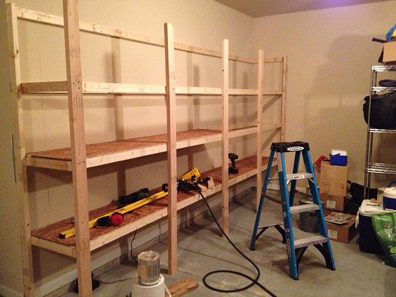 Изготовление стеллажа в гараж своими руками 41