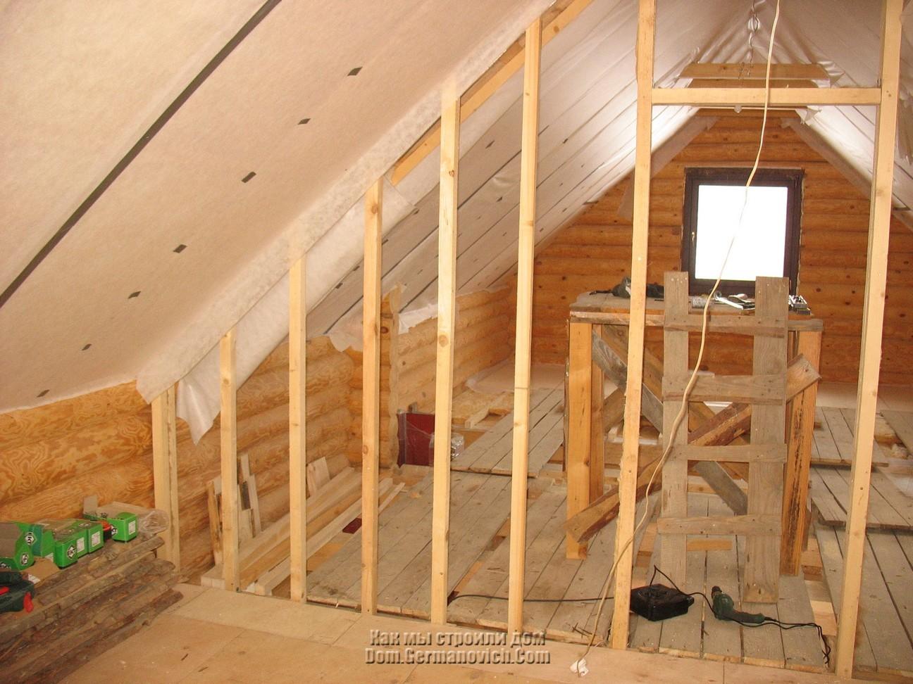 Устройство перегородки в деревянном доме своими руками 26