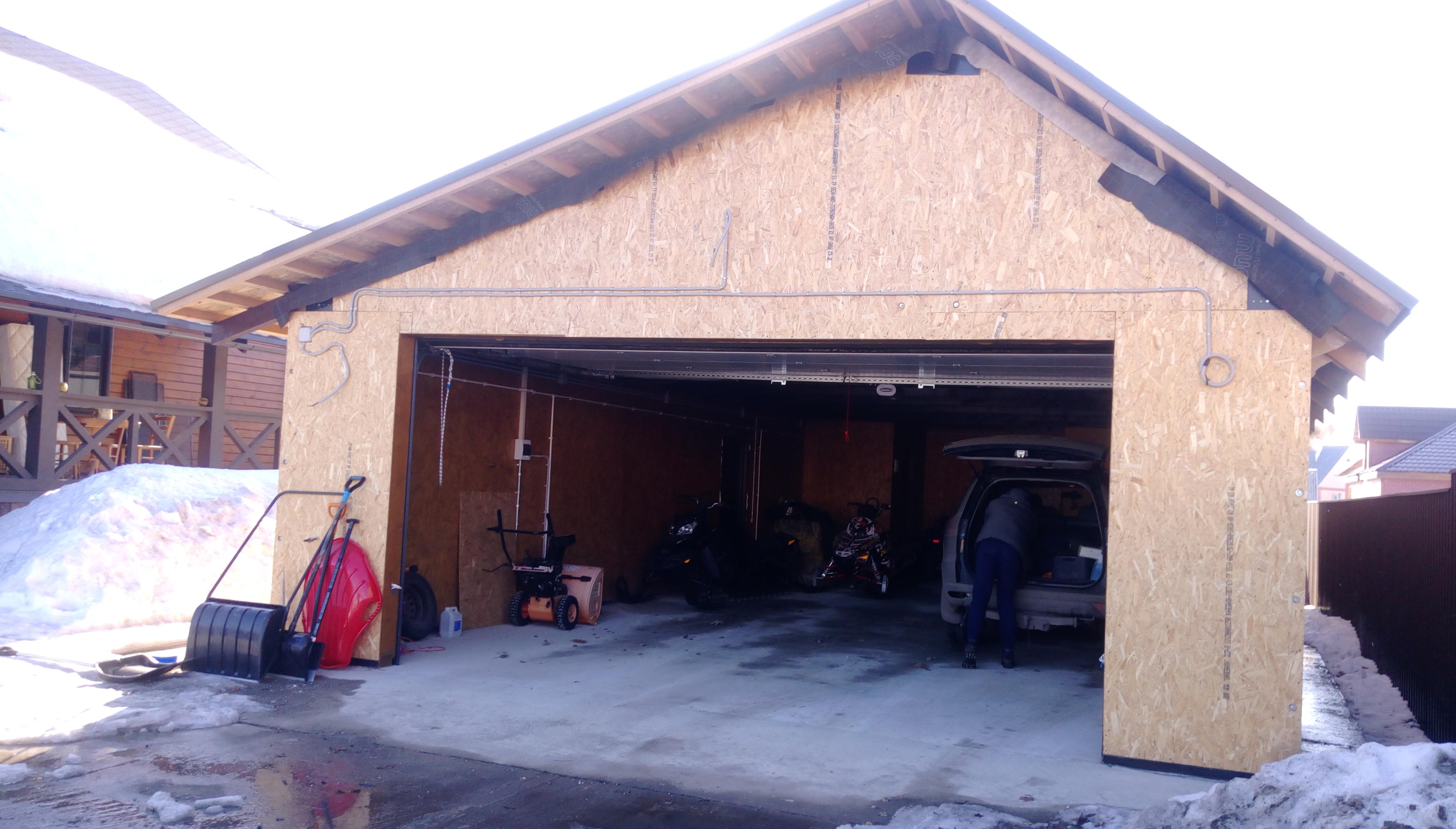 Металлический гараж строим