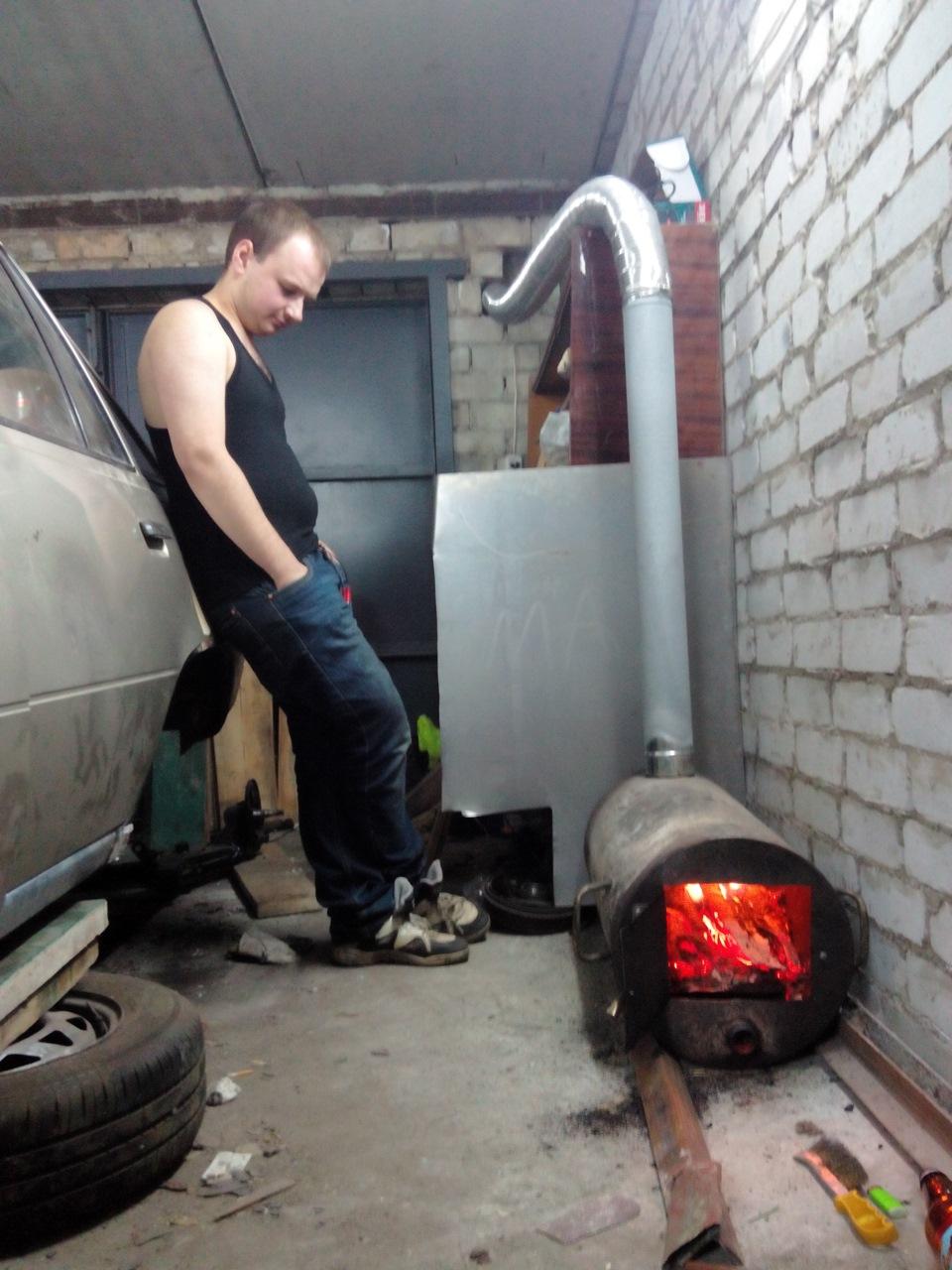 Как правильно сделать буржуйку в гараже