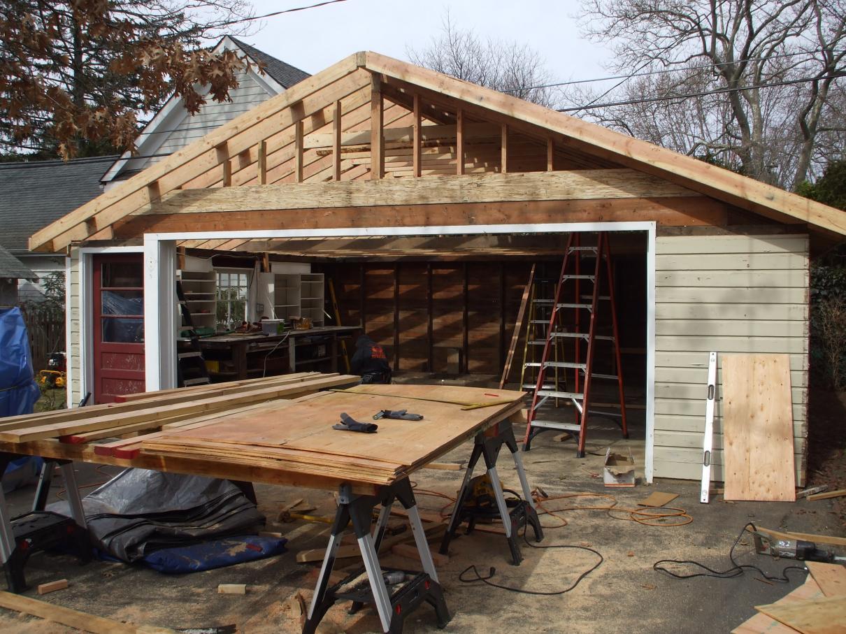Построить каркасный гараж из дерева своими руками