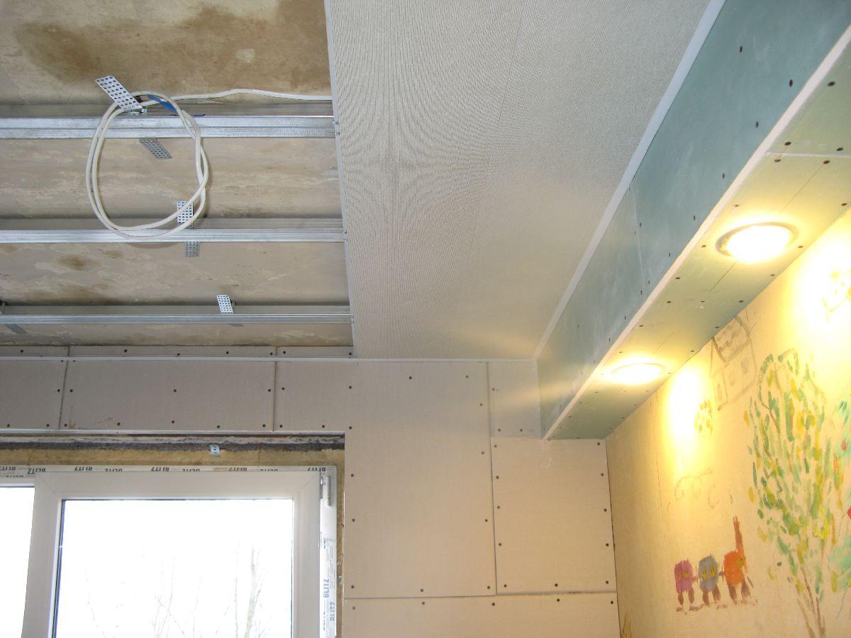 Потолок из пластиковых панелей двухуровневый 106