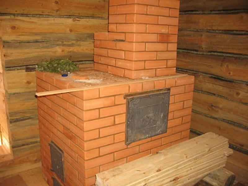 Печка для бани на дровах своими руками