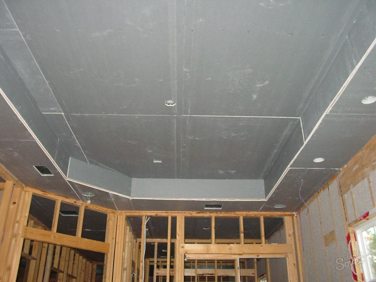 Подвесной потолок из гипсокартона своими руками 5