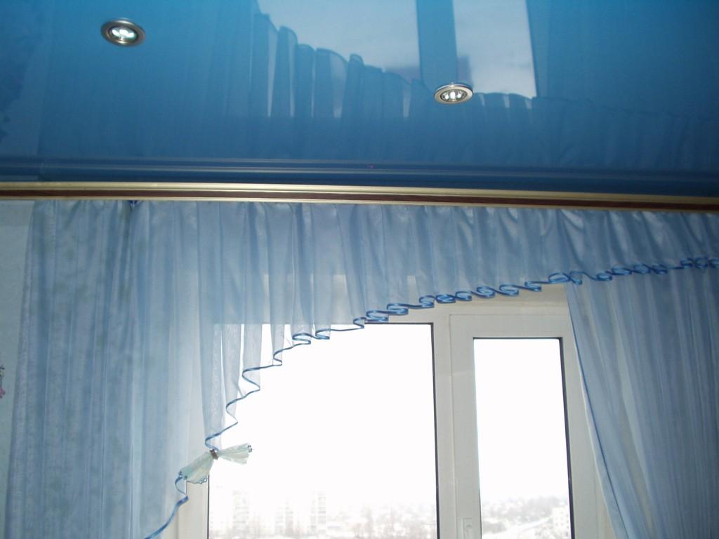 Как сделать потолочную гардину если потолок натяжной 222