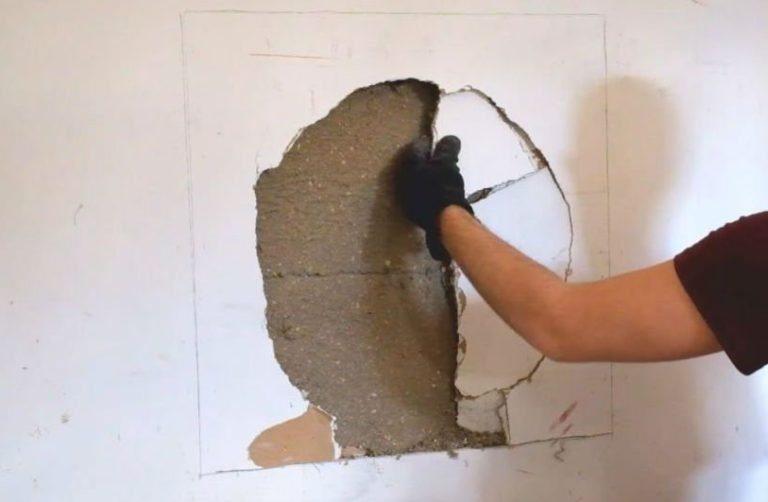 Как зашпаклевать дыры в стене своими руками 46