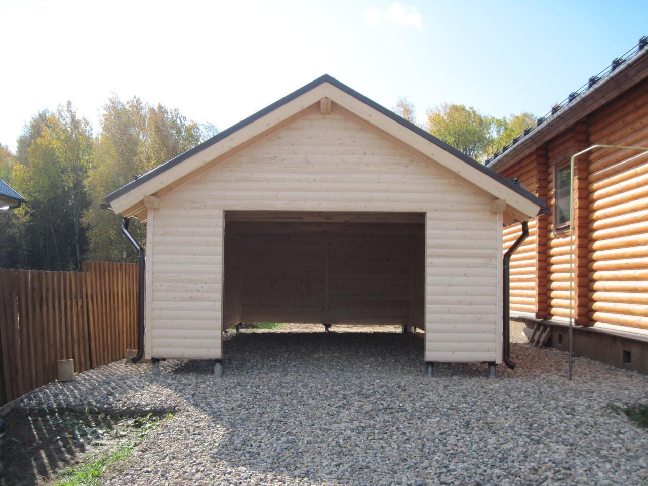 Проект двухэтажного гаража на две машины