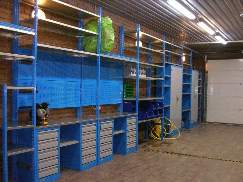 Изготовление стеллажа в гараж своими руками 64
