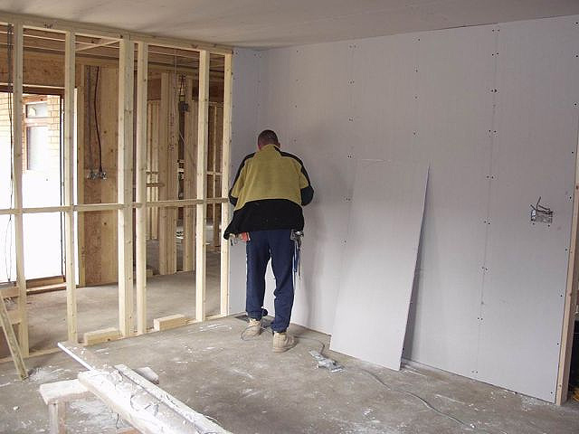 Gypsum board inner walls