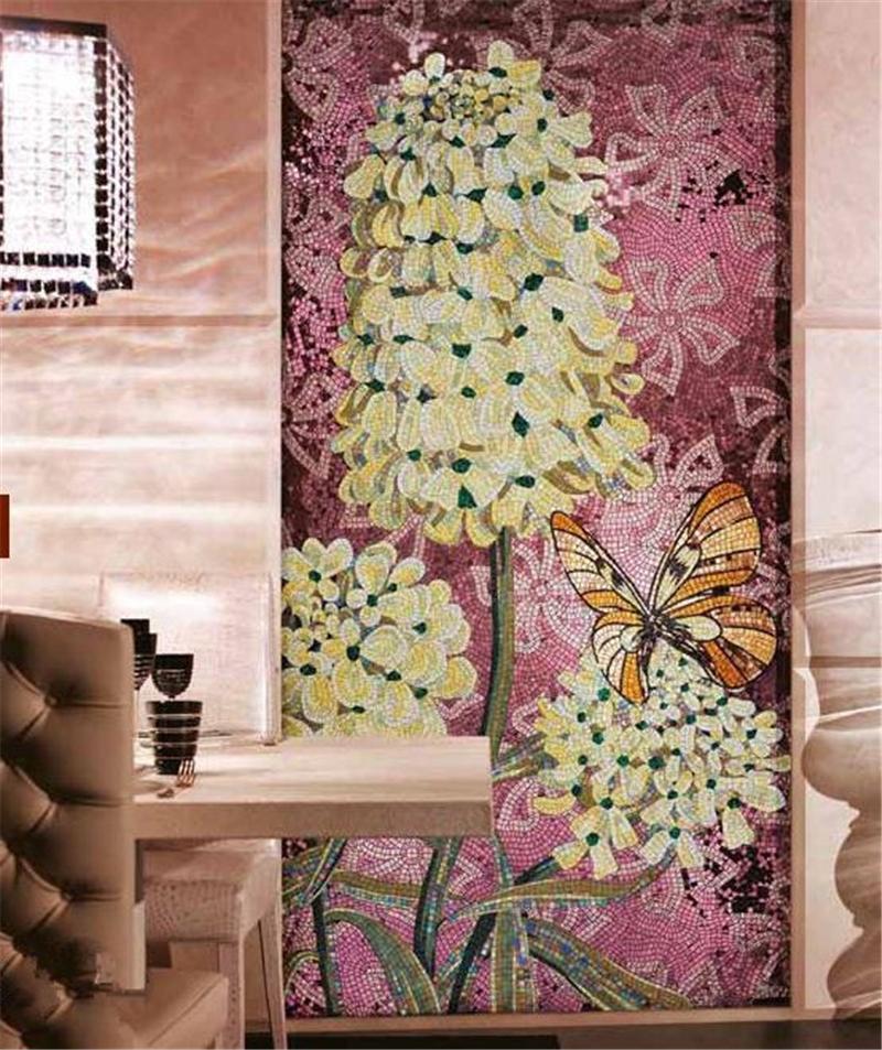 panno-iz-mozaiki-originalnye-idei-ukrasheniya-interera-56 Мозаичное стекло, как материал для творческого процесса своими руками. Мозаика из стекла своими руками для кухни и в ванной с фото и видео Эскизы для мозаики из битых стекол
