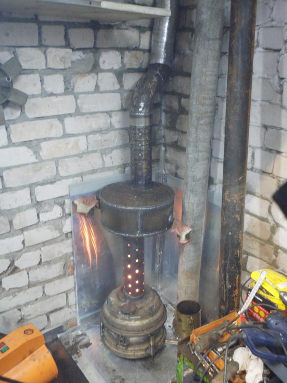 Печь в гараж на дровах своими руками с вентилятором