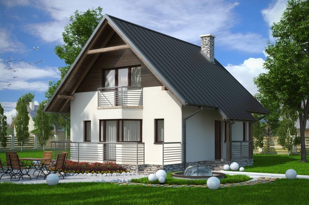 Проекты дачных домов с мансардой и верандой