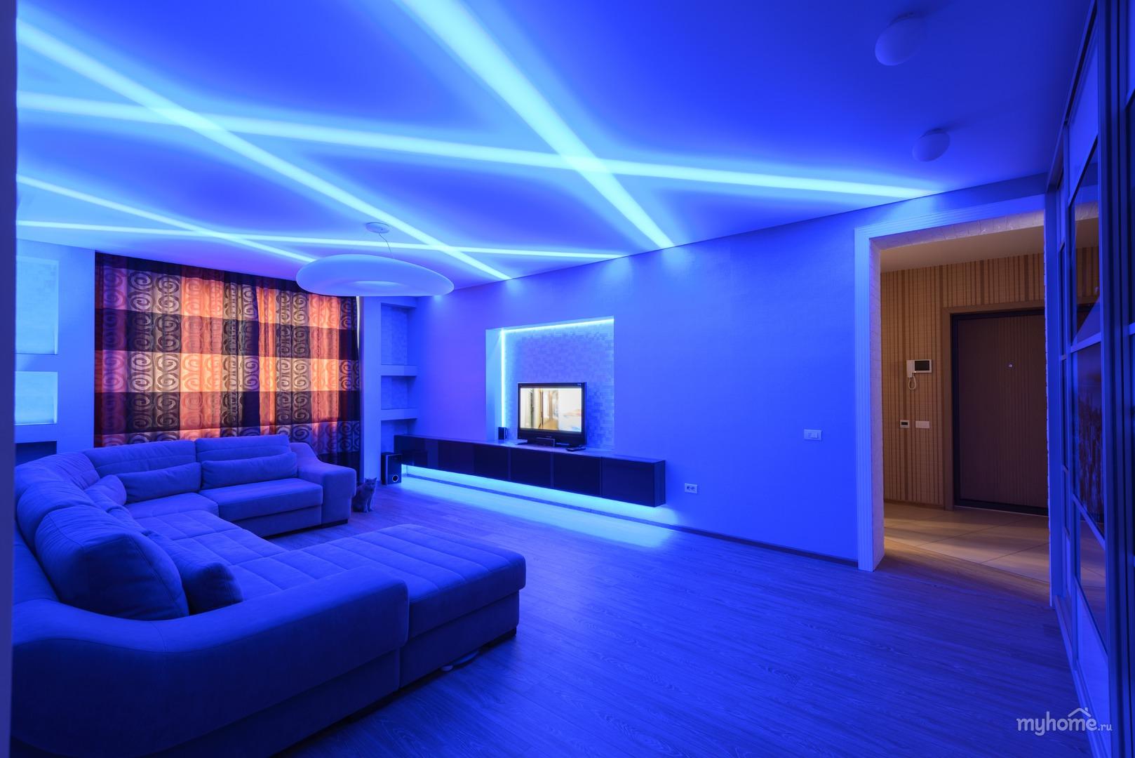 Гипсокартонный потолок с подсветкой Decor 4 House 278