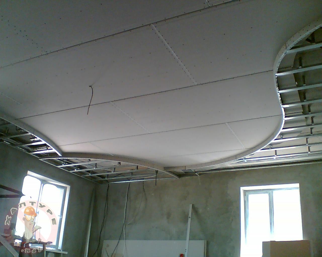 Фото потолков из гкл своими руками