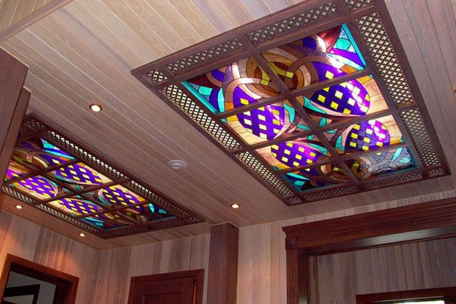 Подвесные потолки из дерева своими руками 25